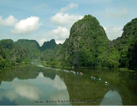 Trang An recognised as the cultural and natural heritage in the world.